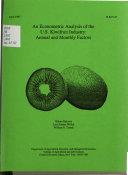 An Econometric Analysis of the U.S. Kiwifruit Industry
