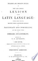 A New and Copius Lexicon of the Latin Language Book
