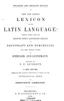 A New and Copius Lexicon of the Latin Language