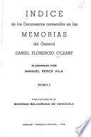 Memorias del general Daniel Florencio OL̓eary
