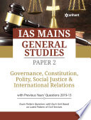 Ias Mains Paper 2 Governance Constitution Polity Social Justice International Relations 2020