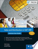 Sales and Distribution in SAP ERP