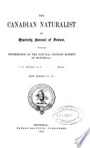 The Canadian Naturalist And Quarterly Journal Of Science