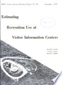 Estimating Recreation Use at Visitor Information Centers