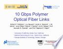 10 Gbps Polymer Optical Fiber Links