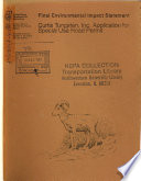 Angeles National Forest  N F    Special Use Road Permit  Application by Curtis Tungsten  Inc