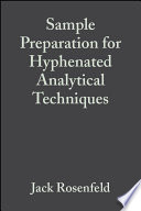 Sample Preparation For Hyphenated Analytical Techniques Book PDF