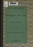 Officers Of The Army of the United States January 20, 1905