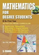 Pdf Mathematics for Degree Students (For B.Sc. First Year) Telecharger