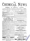 The Chemical News and Journal of Industrial Science  , Volumes 93-94