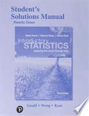 Student Solutions Manual for Introductory Statististics
