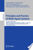 Principles and Practice of Multi Agent Systems