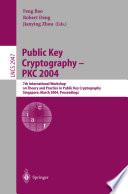 Public Key Cryptography Pkc 2004