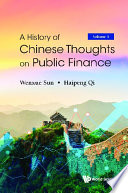 History Of Chinese Thoughts On Public Finance  A  In 2 Volumes