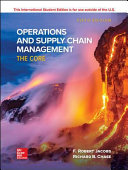 OPERATION and SUPPLY CHAIN MGMT