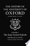 The Early Oxford Schools