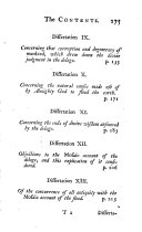 Containing dissertations upon the several revelations from the creation to the flood  inclusive