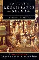 English Renaissance Drama Book