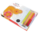 Vive Le Color  Vitality  Coloring Book and Pencils