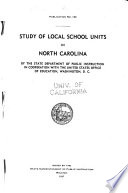 Study of Local School Units in North Carolina