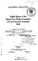 Report of the Senate Fact Finding Committee on Un American Activities