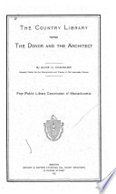 The Country Library Versus the Donor and the Architect Book PDF
