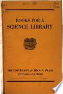 Books for a Science Library