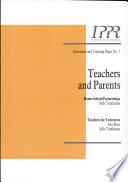Teachers and Parents