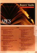 APICS, the Performance Advantage