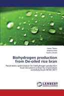 Biohydrogen Production from De-Oiled Rice Bran