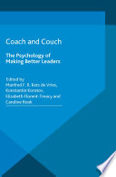 Image of book cover for Coach and couch the psychology of making better le ...