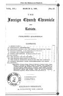 The Foreign Church Chronicle and Review