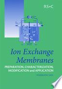 Ion Exchange Membranes Book