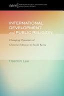 International Development And Public Religion