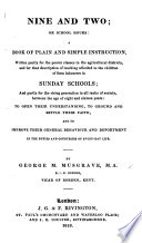 Nine and Two  Or  School Hours  a Book of Plain and Simple Instruction Book PDF