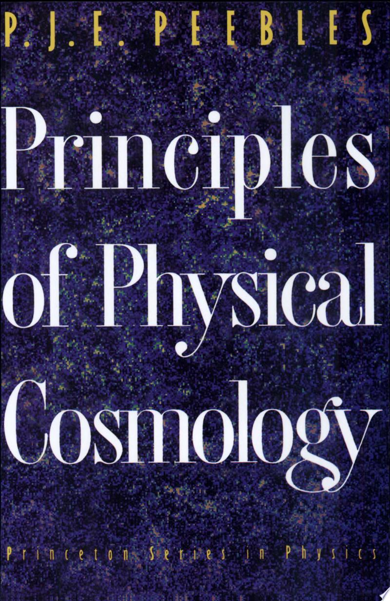 Principles of Physical Cosmology banner backdrop