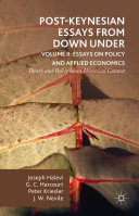 Post Keynesian Essays from Down Under Volume II  Essays on Policy and Applied Economics