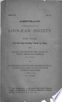 Abstract of the Proceedings of the Linnaean Society of New York City, for the Official Year ...