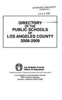 Directory of the Public Schools of Los Angeles County  California