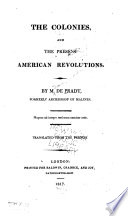 The Colonies and the Present American Revolutions Book PDF