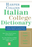 Cover of Collins Italian College Dictionary, 3rd Edition