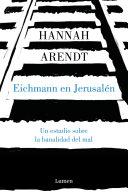 Eichmann en Jerusal  n Book PDF