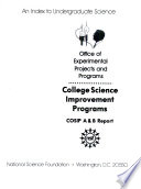 College Science Improvement Programs  COSIP A   B Report