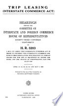 Trip Leasing Interstate Commerce Act