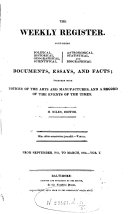 The Weekly Register From September 1813 to March 1814 VOL V