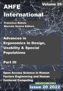 Advances in Ergonomics In Design  Usability   Special Populations  Part III