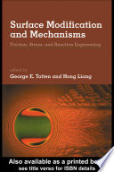 Surface Modification And Mechanisms Book PDF