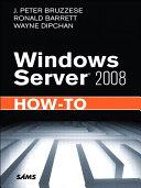 Windows Server 2008 How To E Pub Book PDF