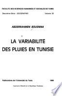La variabilité des pluies en Tunisie