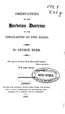Observations on the Harveian Doctrine of the Circulation of the Blood ebook